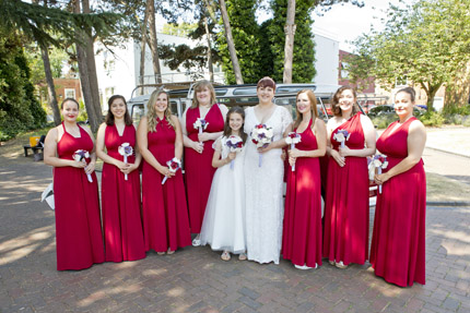 West Bridgford brides and bridesmaids