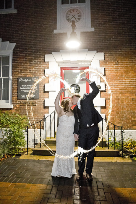 West Bridgford brides and groom at night