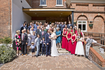 wedding party at west bridgford registry office