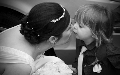West Bridgford Bride and son