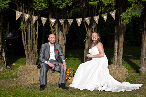 nottingham wedding couple at all day wedding