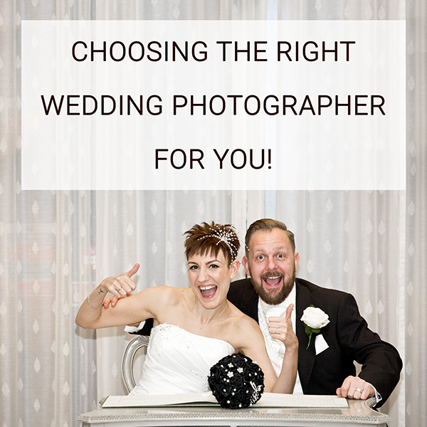 Choosing the right wedding photographer for you
