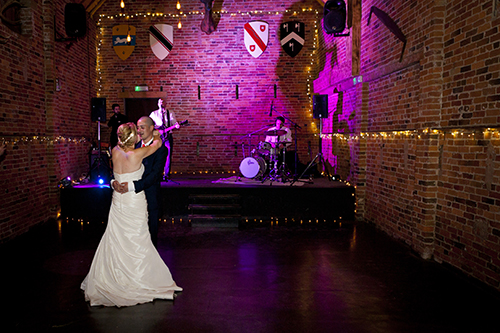 first dance for wedding couple at nottingham all day wedding
