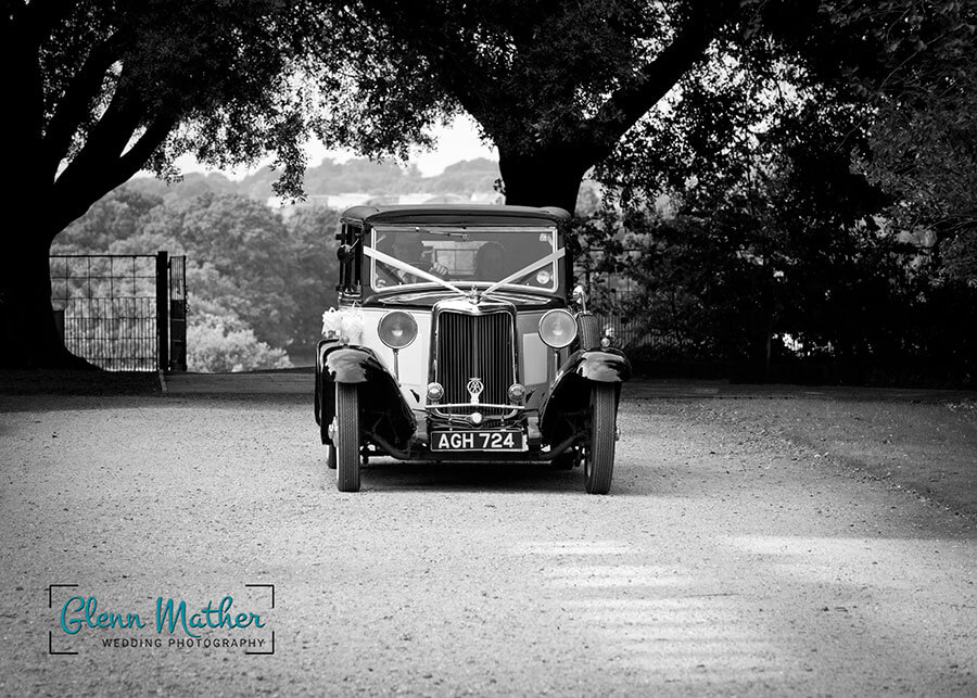 Wedding Car in Black and white