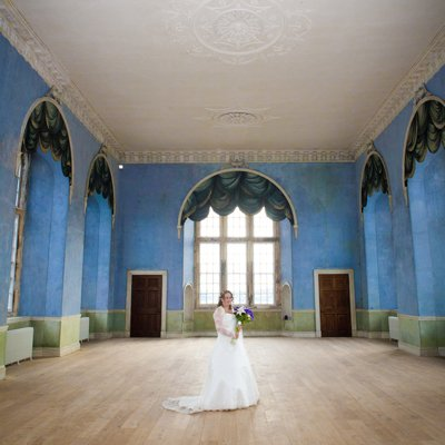 bride in grand hall