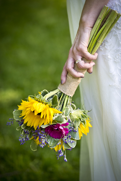 brides flowers in hand