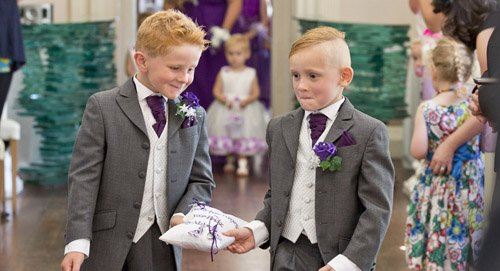 pageboys with rings